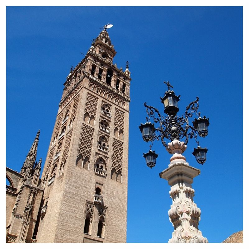 cathedral tower minaret castle seville spain