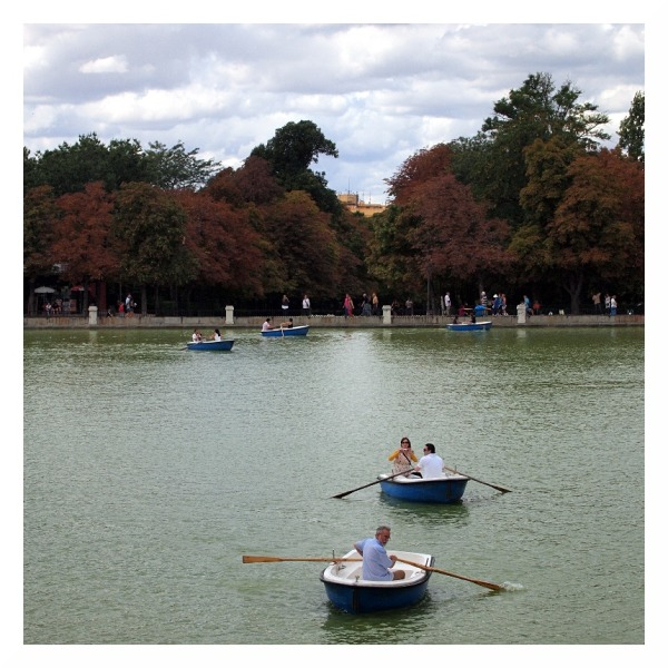 madrid boating lake end of summer