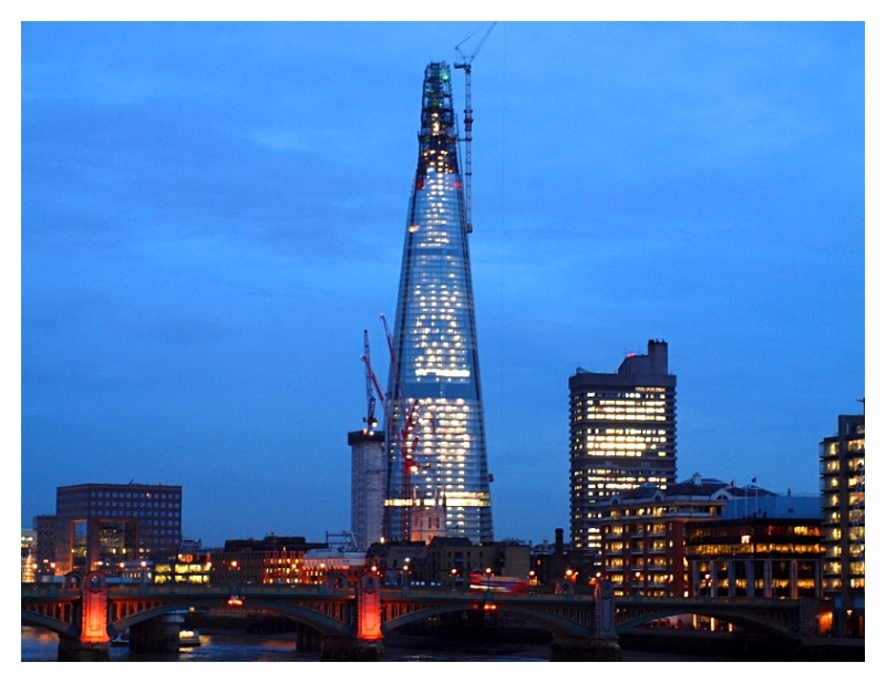 london shard still climbing