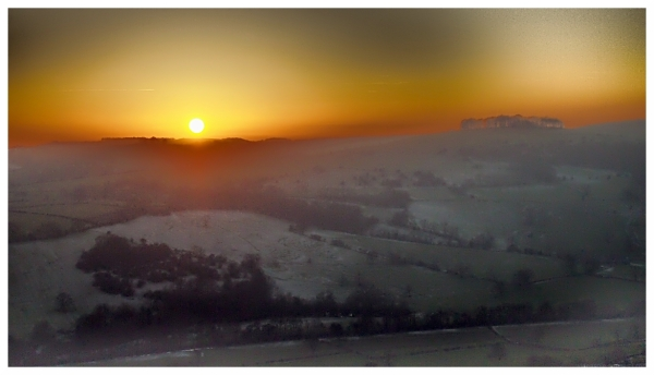 cold sunset dovedale
