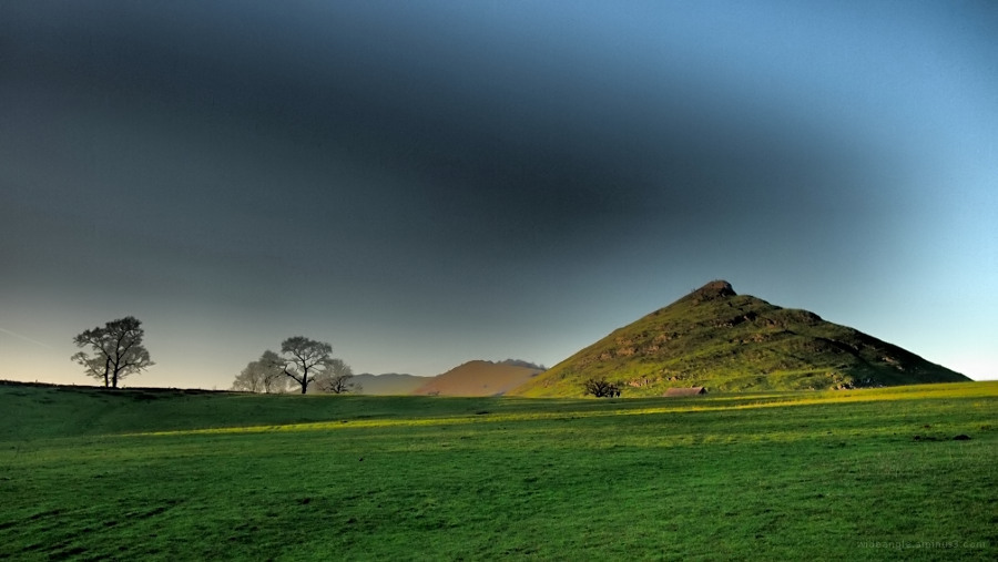 dovedale mountain sunset