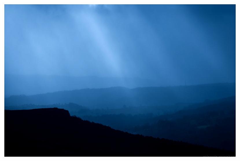blue skybeam stanage edge