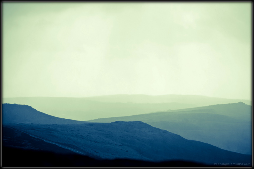bright breezy day stanage edge