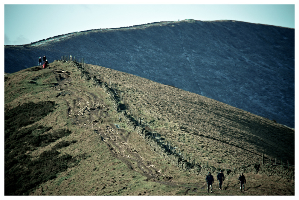 muddy pathway mam tor derbyshire