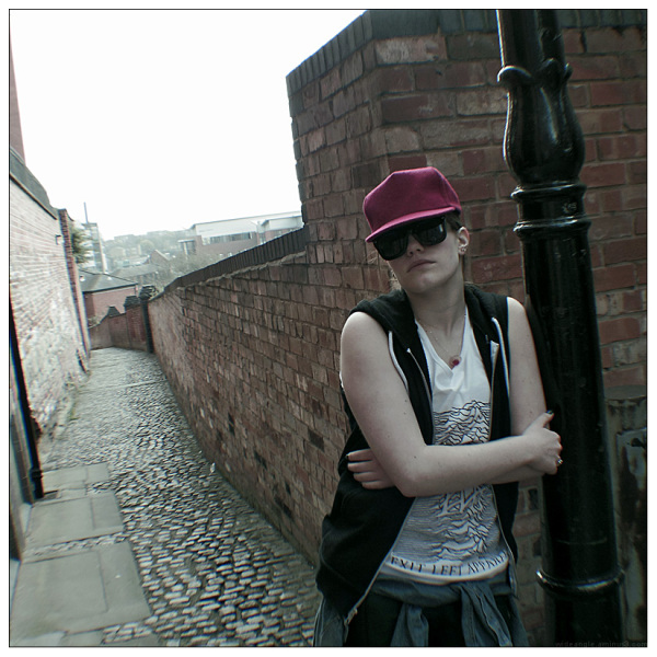 alleyway fashion model student photography