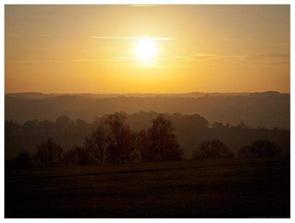 sunset layers derbyshire
