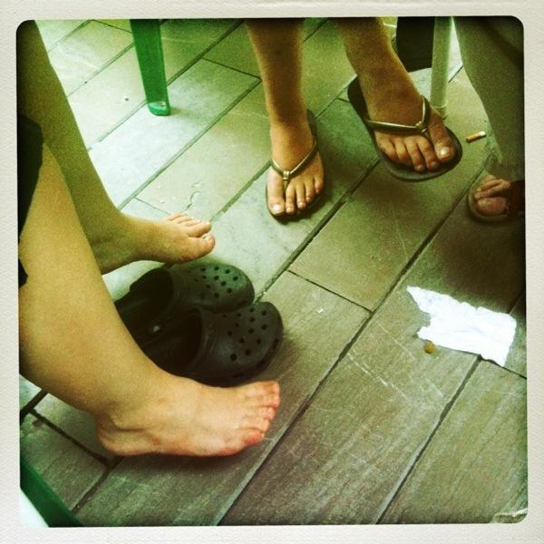 Feet Under Table, Malaga - Abstract & Conceptual Photos