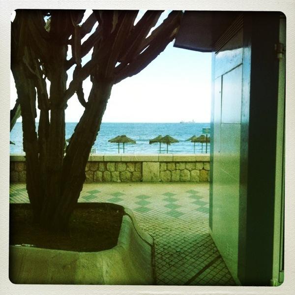 malaga beach cold wet windy april