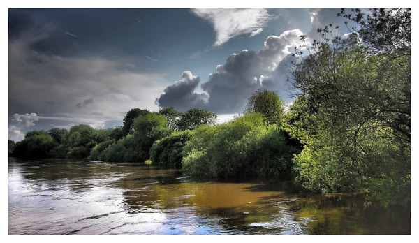 river trent storm landscape light cloud flood