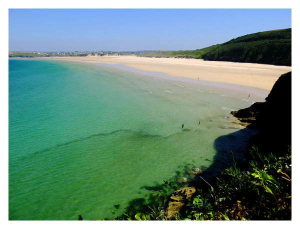 lelant sands st ives cornwall blue sea