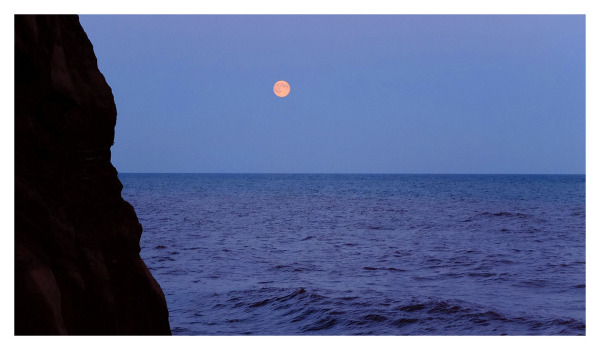 Moonrise over the English Channel, Sidmouth