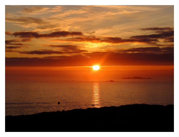 sunset st marys scilly isles
