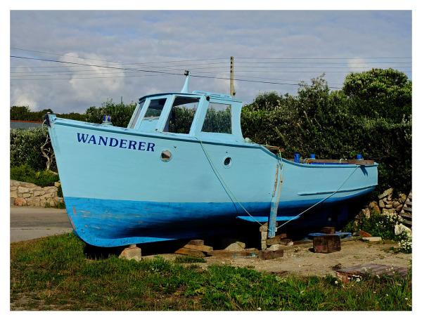 Bright Blue Boat