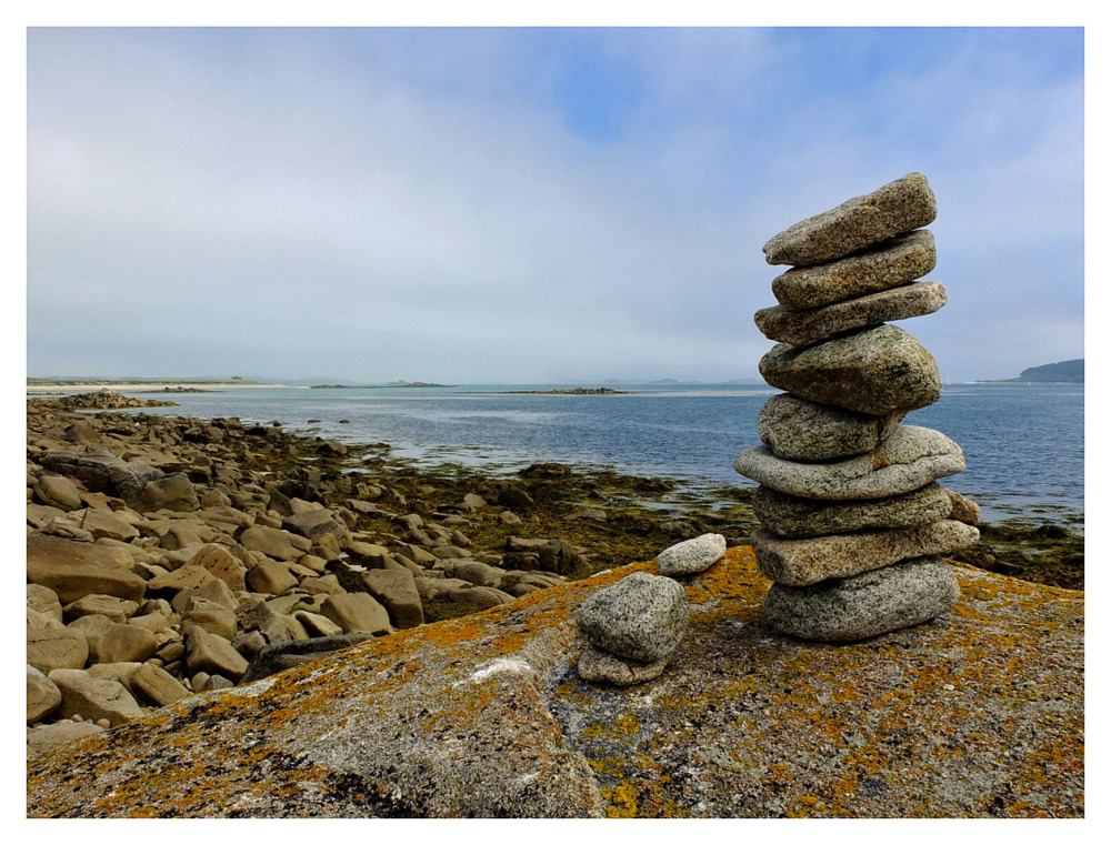 pile stones tresco isles scilly