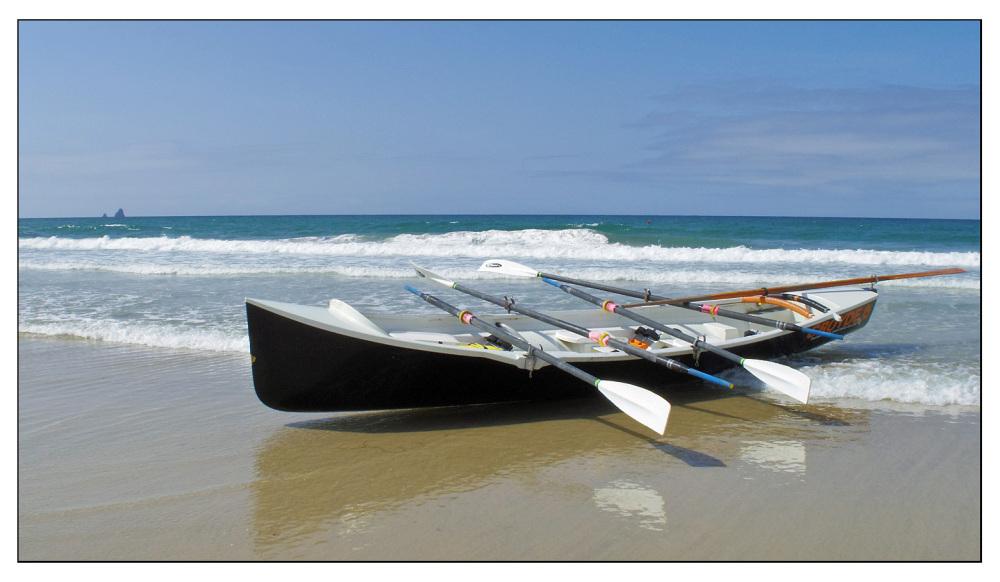 surfboat perranporth beach cornwall