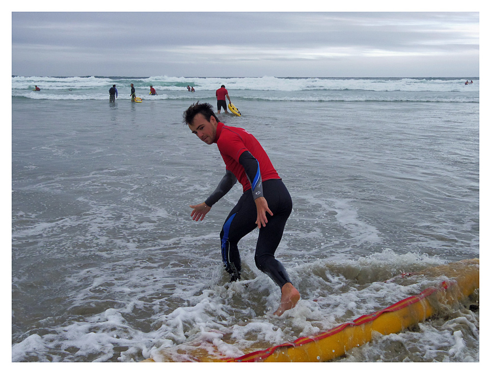 surf rescue dude perranporth beach