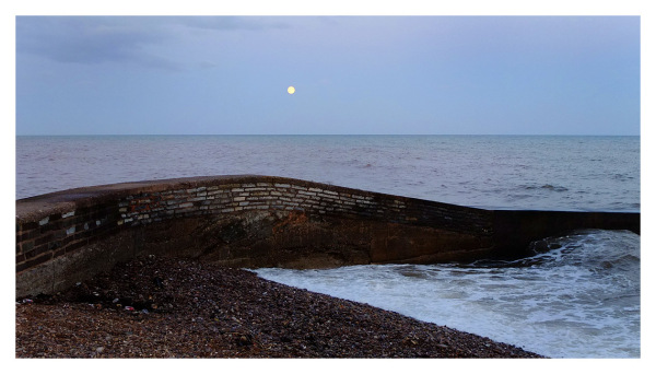 Seawall & Full Moon