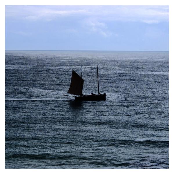 sailing boat minack theatre porthcurno cornwall