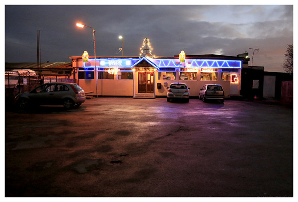 beeston marina bar after dark