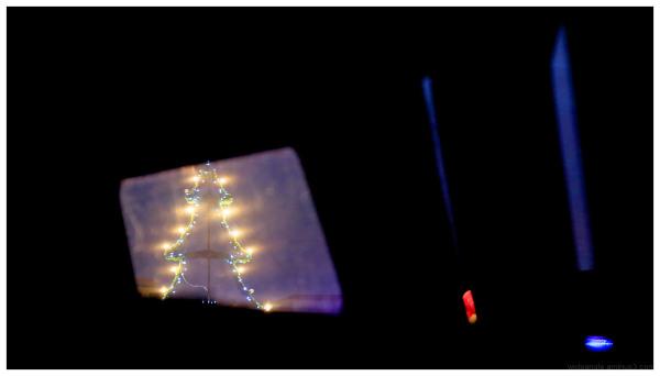 xmas eve tree lights colour night