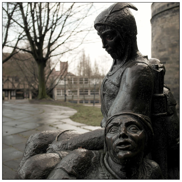 robin hood nottingham bronze faces
