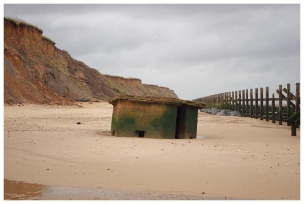 pillbox sunken cliffs seaside defence
