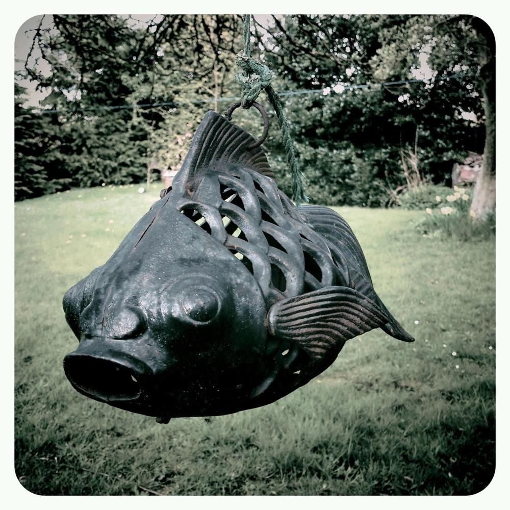 fish lantern garden