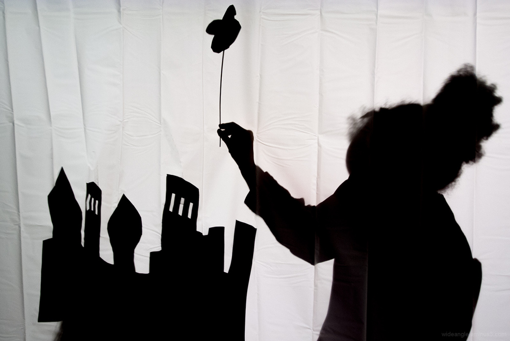 shadow play castles children puppets