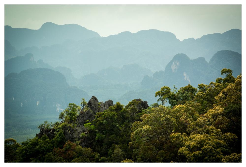 jungle mountain limestone craggy krabi thailand
