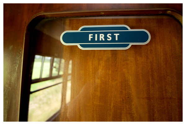 first class carriage wood steam travel