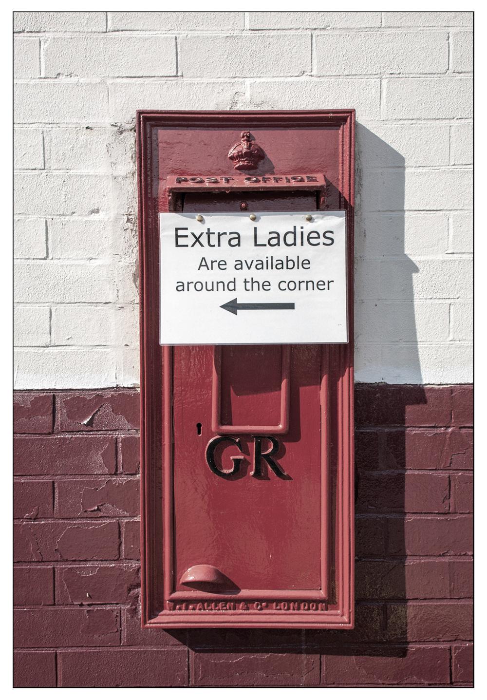 extra ladies available round corner