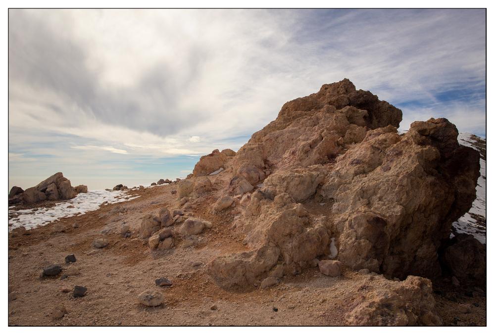 sulphurous lava rock mountain teide tenerife
