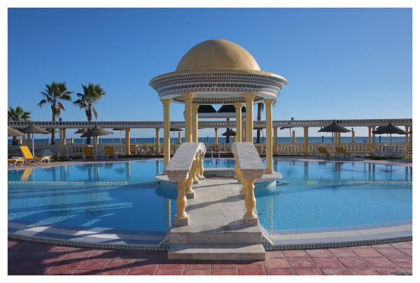 caruso palace swimming pool suuny winter day
