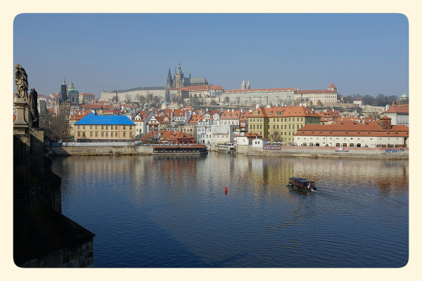 River Vltava from Charles Bridge