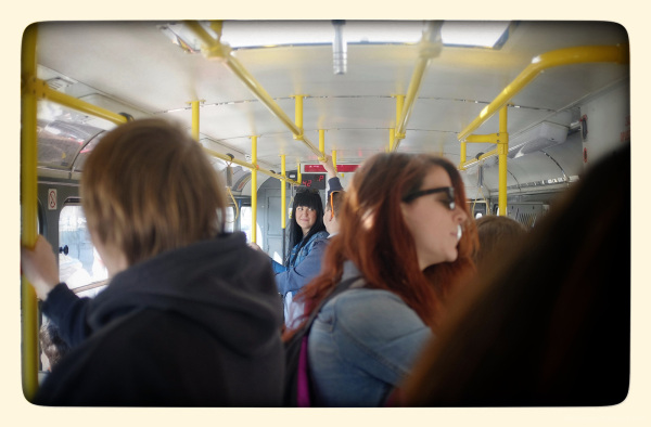 couple on prague tram number nine