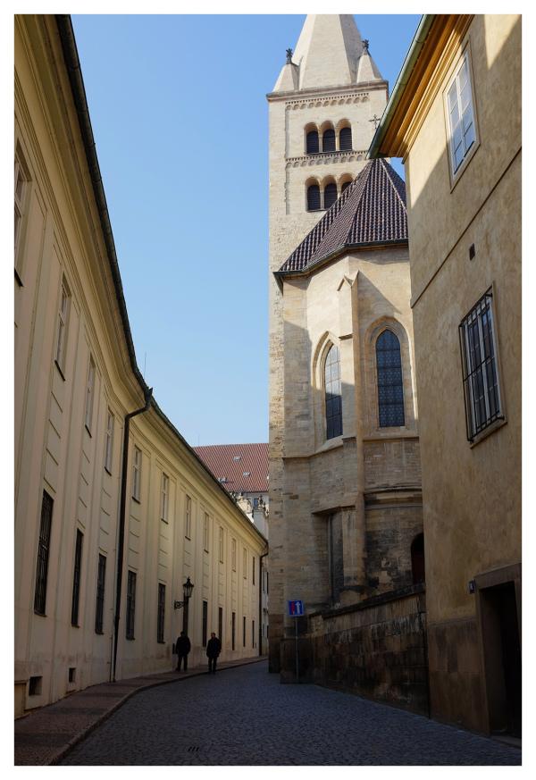 prague palace castle stately roads