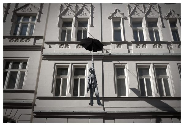 lift down umbrella hanging prague