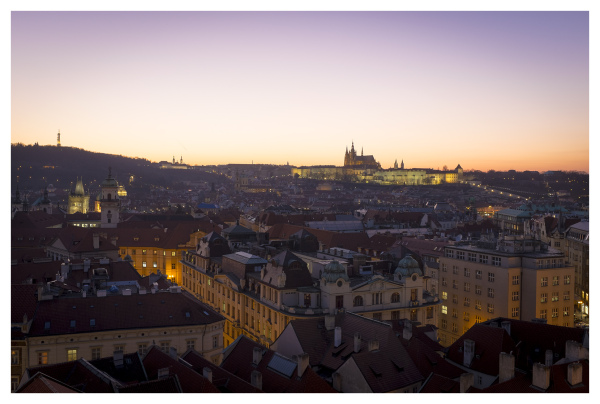 The Sun Sets Over Prague Castle