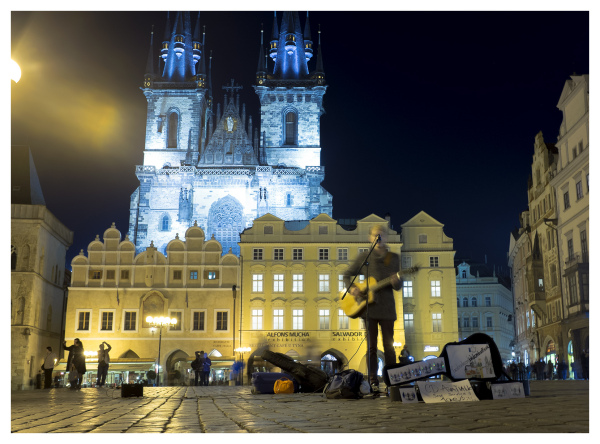 Busker in Prague