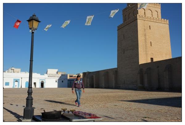 coloured flag tunisia square