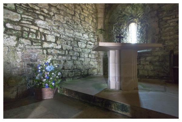 chapel flowers light blue dorset