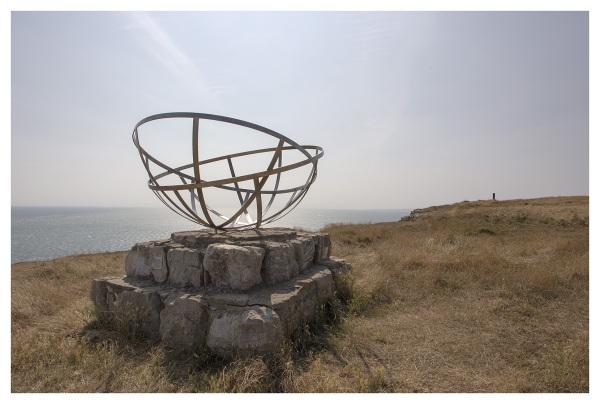 sculpture purbeck coast dorset seascape summer