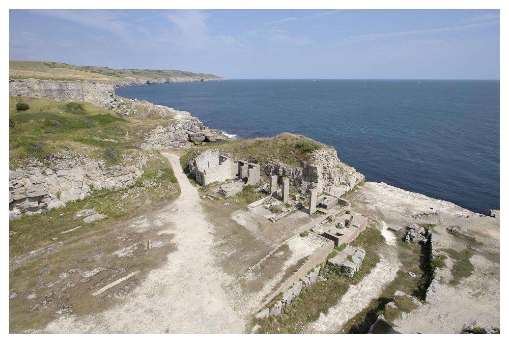 quarry cliffs limestone purbeck coast dorset