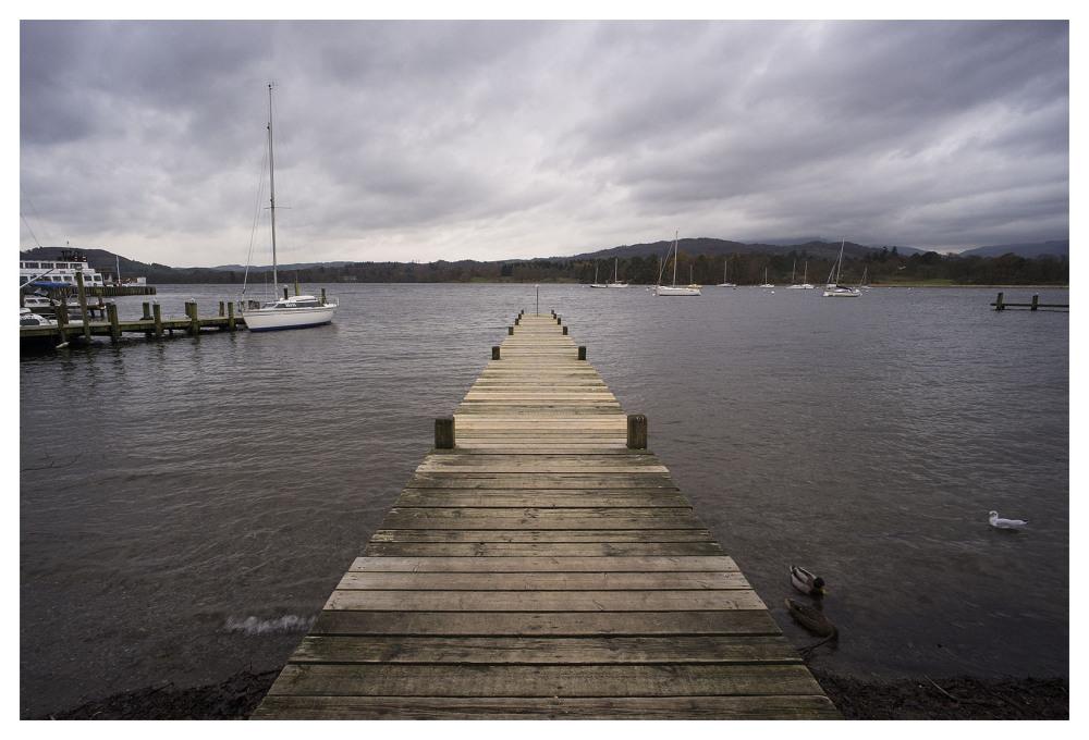 windermere lake district england wet november