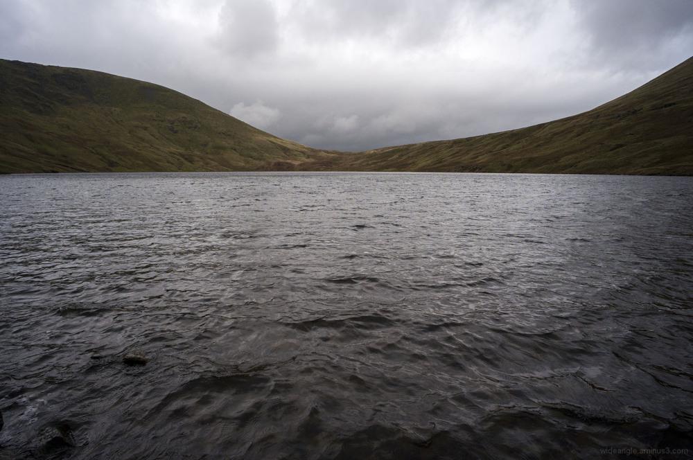 grisedale tarn windy dark rain helvellyn