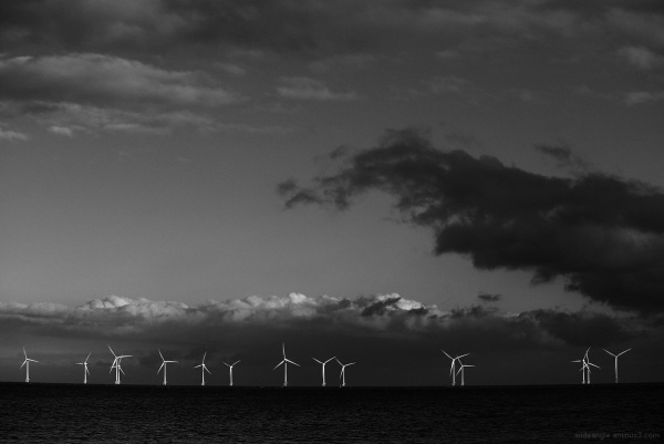 norfolk seaside beachlife windfarm cloud