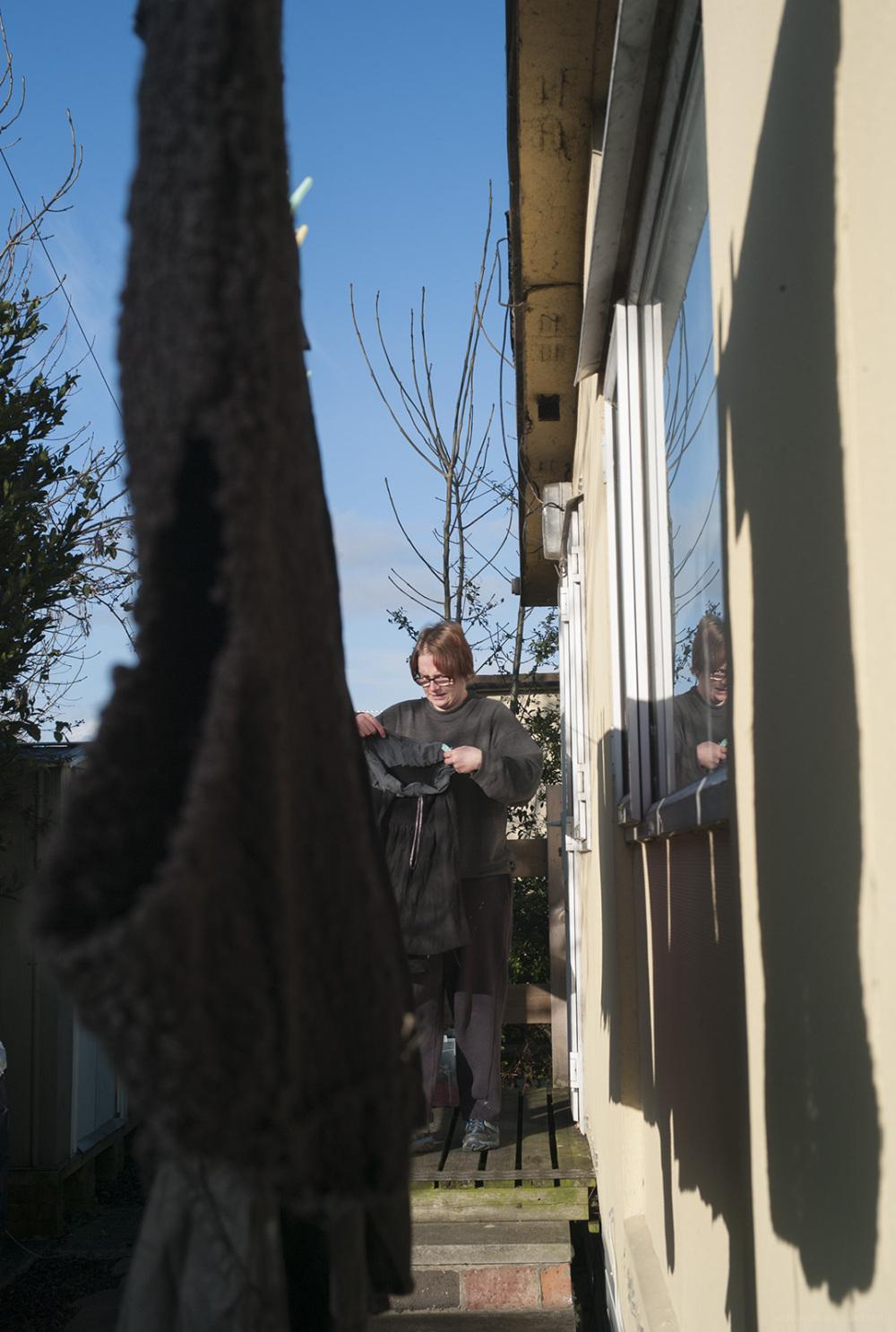 washing day sunday january sunny