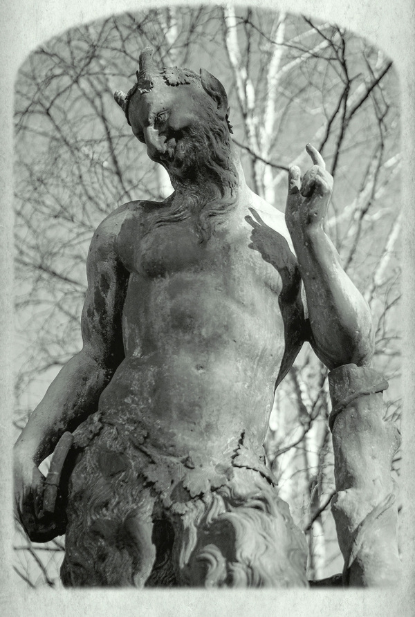 Worn Statue at Newstead Abbey