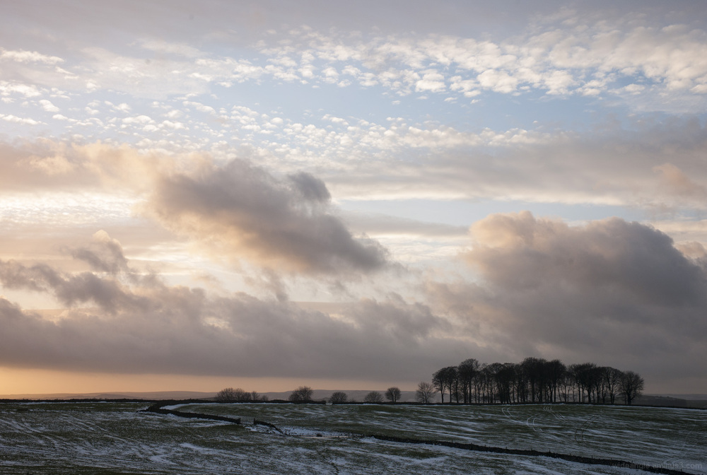 beautiful sky arborlow derbyshire