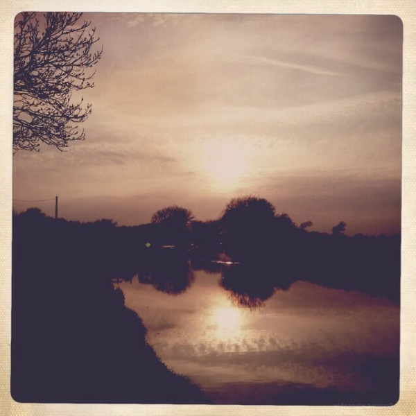 Sunset after walk from shardlow to weston on trent